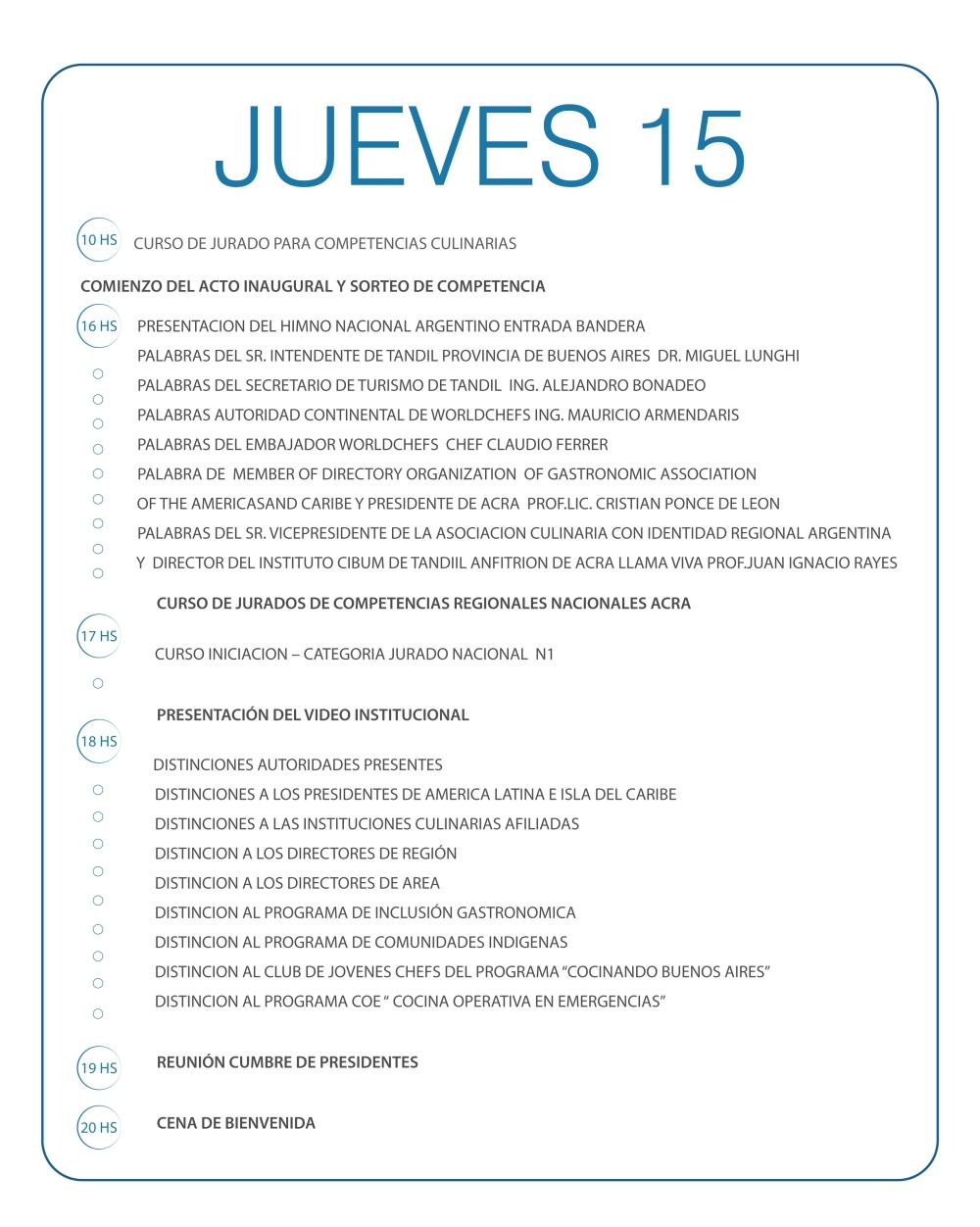 JUEVES 15-01